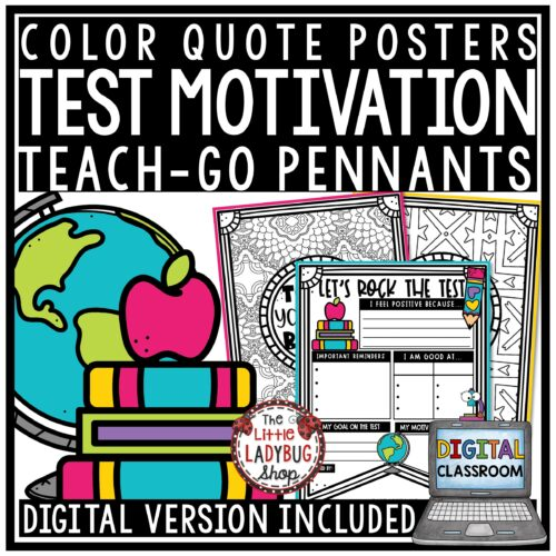 State Testing Encouragement Motivation Quote Posters Bulletin Board