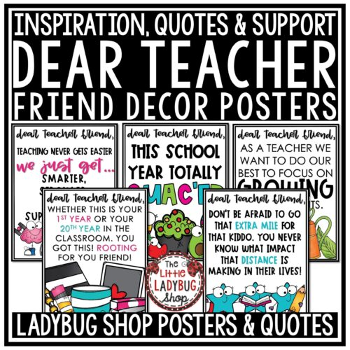 Dear Teacher Inspiration Quote Posters
