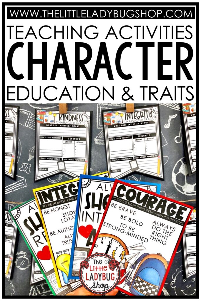 Character Education Traits Posters, Writing Bulletin Board Kindness