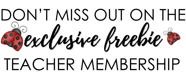 Teacher Freebie Membership