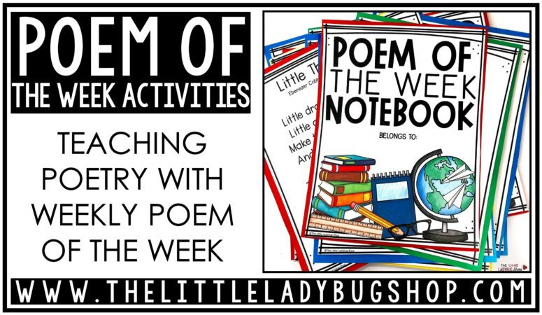 Poem of the Week Activities for Upper Elementary
