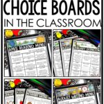 ELA Reading and Writing Choice Boards & Menus in the Upper Elementary Classroom