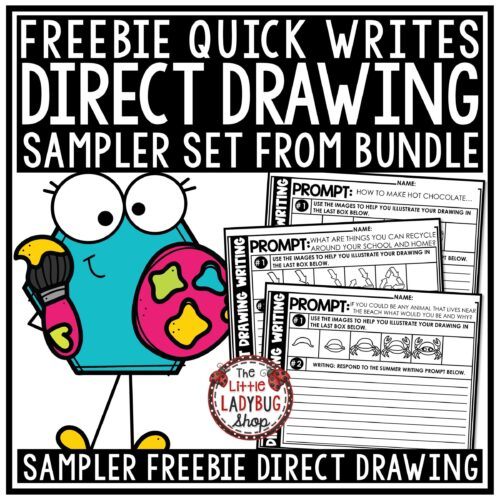 Direct Drawing Quick Write Freebie